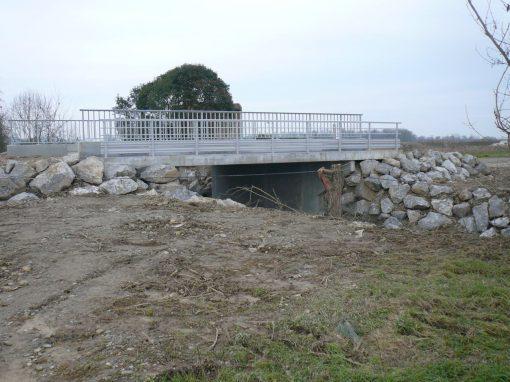 Construction d'un pont à Aire-sur-Adour (40)