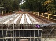Construction du pont Pas de Naou, sur RD43, à PISSOS (40)