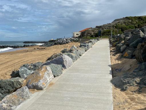 Rampe d'accès sur une plage à Anglet (64)